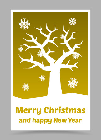 vector gold christmas card with christmas elements Vector