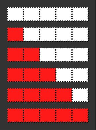 indicate: vector red loading bar indicate procedure of load Illustration