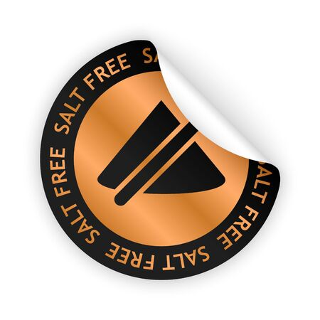 harmless: white bent sticker with symbol of salt free