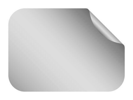 light shadow: silver blank template label with light shadow Illustration