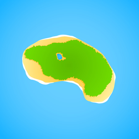 mountain view: map of the tropical desert island