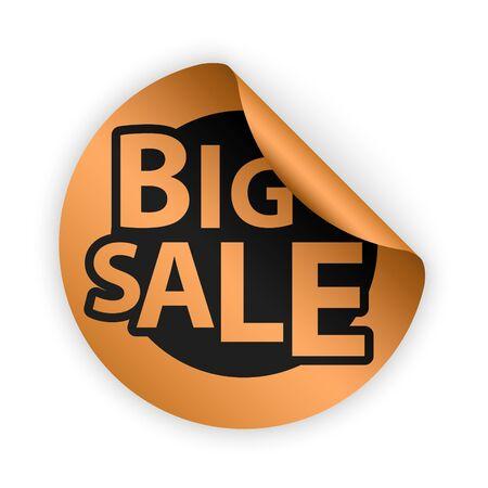 bent: bronze bent sticker with big sale sign