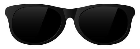 vector black sunglasses with the light shine Ilustração