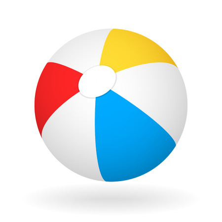 light and shadow: vector beach ball with the light shadow Illustration