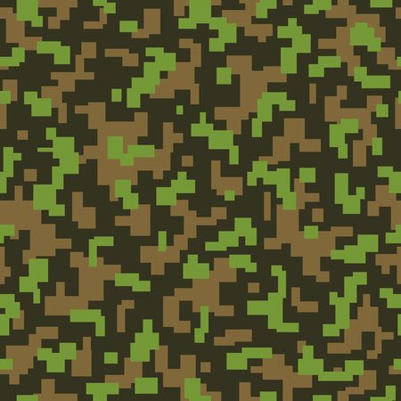 acu: vector repeat camouflage texture with jungle colors Illustration