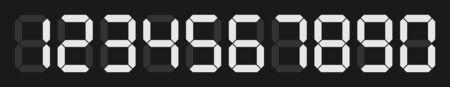 digital numbers: set of digital numbers on black background for digital calculator