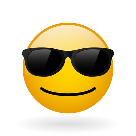 instant messaging: glass button with symbol of smiling face, smile emoticon applicable in instant messaging