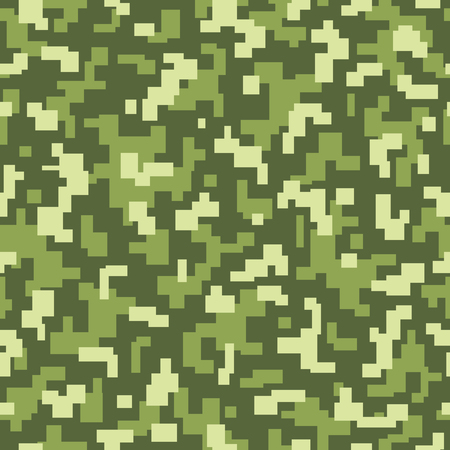 acu: repeat camouflage texture with green colors for camouflage in the nature