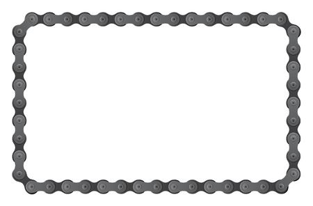 set van aangesloten fietsketting stukken composiet hoekig montuur
