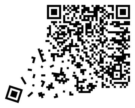 broken qr code, qr code containing important information