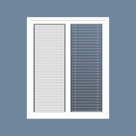 vector closed white window with the louver Vetores