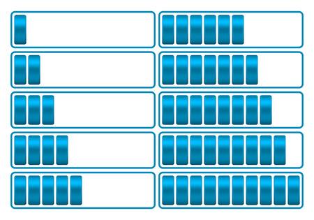 La barre de chargement du vecteur indique la procédure de chargement Banque d'images - 70034904