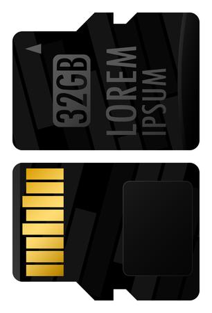 Vector-geheugenkaart bedrijfsidentiteit, ontwerp van bedrijfsobjecten Stock Illustratie