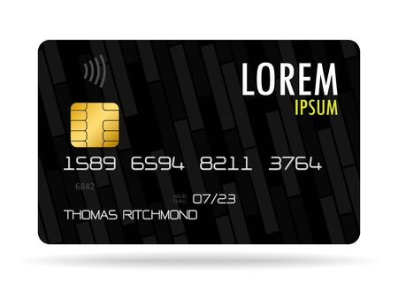 vector credit card corporate identity, design of corporate objects