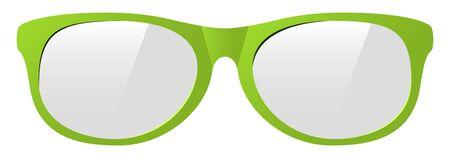 vector green eyeglasses with the light shine Ilustração