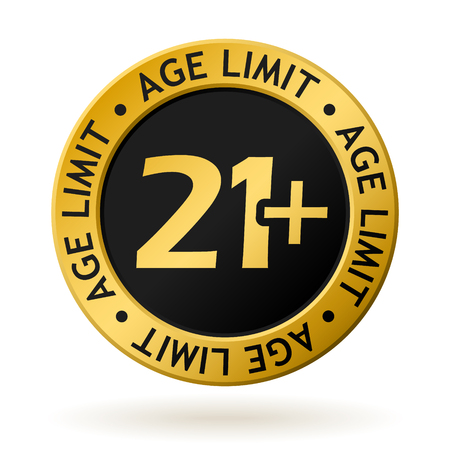 vector gold medal with symbol of age limit Stockfoto - 95220231