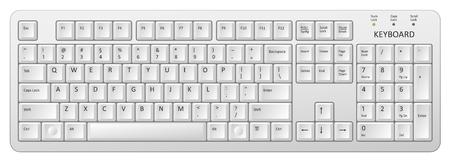 Vector white pc keyboard. Stockfoto - 97190761