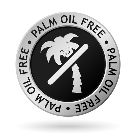 Silver medal with symbol of palm oil free.