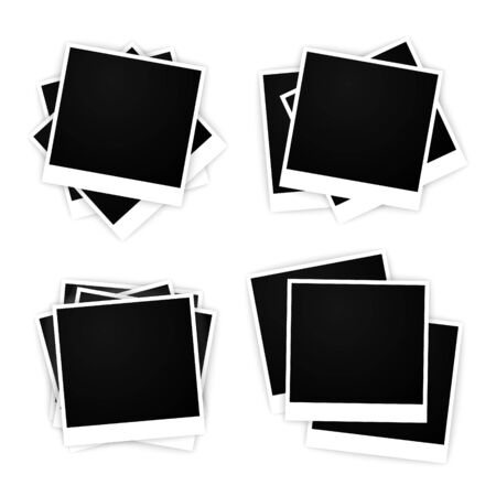 set of vector empty frames for photos 向量圖像