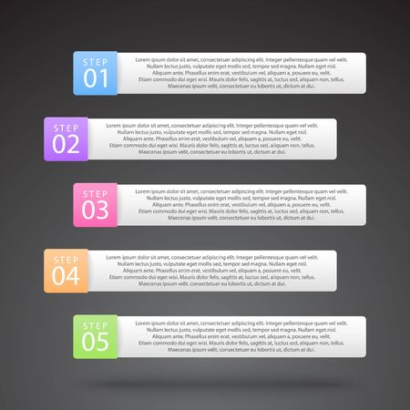 vector color infographic labels with many options and steps