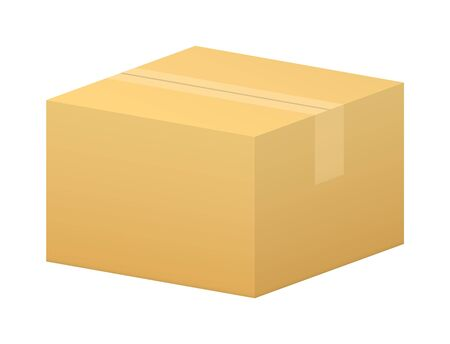 vector close simple box using in warehouses