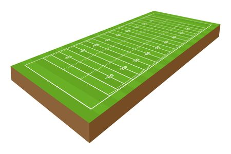 vector perspective american football playground in 3d