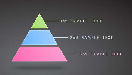 vector color infographic pyramid with many options and steps