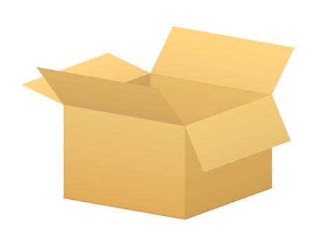 vector open simple box using in warehouses Stock Illustratie
