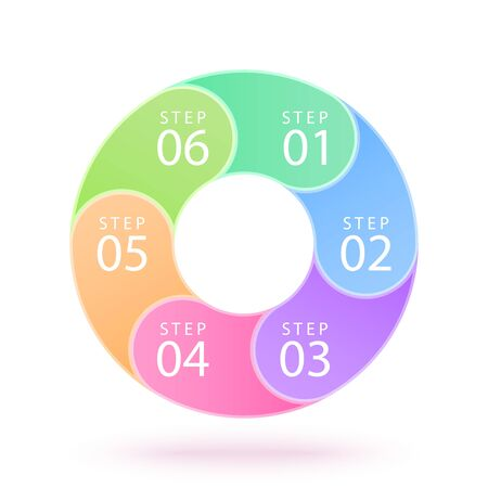 vector color infographic circle with many options and steps