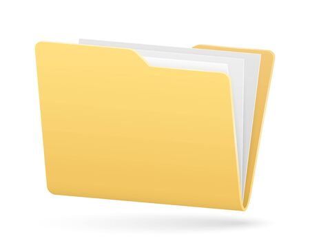 vector simple full folder of documents with light shadow Stock Illustratie