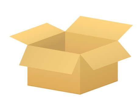 vector open simple box using in warehouse, store and stock Vektoros illusztráció
