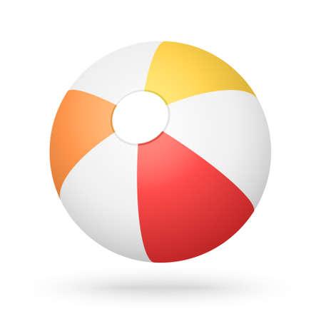 vector red orange yellow beach ball Vector Illustratie