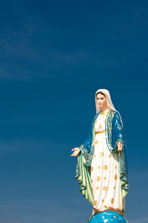 Mary figure standing at the Cathedral of Immaculate Conception, Chanthaburi province, Thailand photo