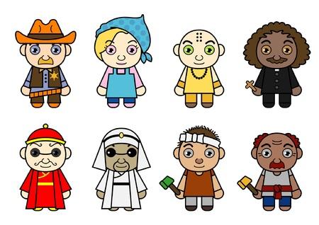International Cartoon Characters Stock Vector - 13730325