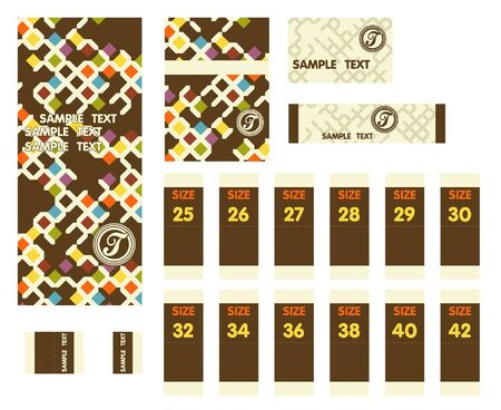 Label Jeans Vector