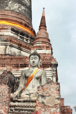Ancient Buddha Statue in Ayutthaya, Thailand photo