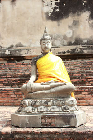 Ancient Buddha, Pagoda   Ruins in Ayutthaya, Thailand photo