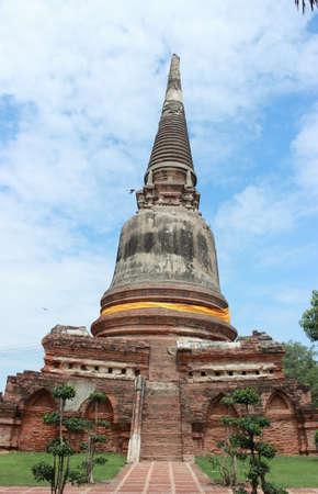 Ancient Pagoda   Ruins in Ayutthaya, Thailand photo
