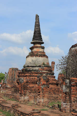 Ancient Pagoda   Ruins in Ayutthaya, Thailand photo
