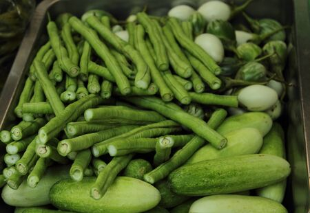 Variety of Vegetables in Thailand Market photo