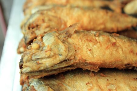 Fried Mackerel fish photo