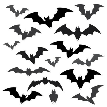 bats: Bats and Halloween Icon Sets Illustration