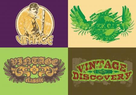 t shirt print: Etiqueta del vintage de T Shirt Print