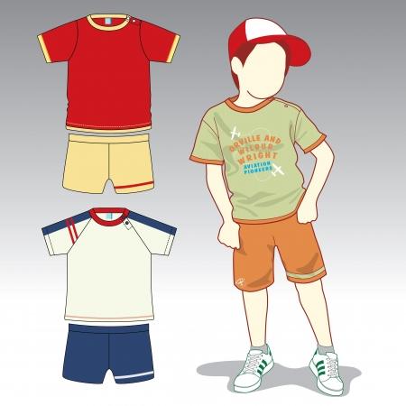 子供のファッションや服  イラスト・ベクター素材