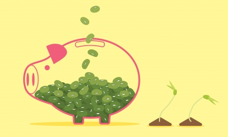 Piggy Bank, Save the Environment Vector