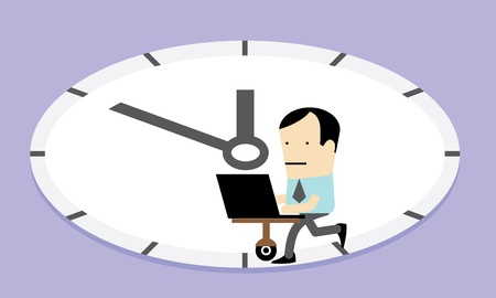 Workaholic concept illustration Vector