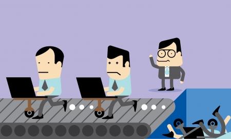 Employee Selection Vector Cartoon