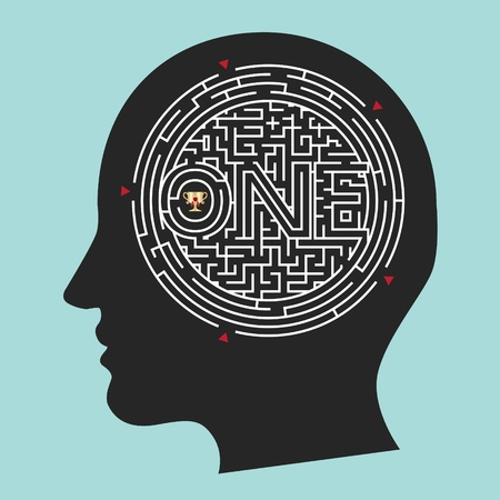 Labyrinth Brain; Inside Mind Vector
