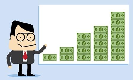 Increasing money Illustration