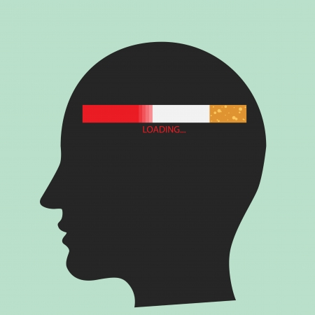 timed: Loading Cigarette  Illustration